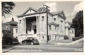 Rome Georgia First Christian Church Real Photo Antique Postcard J75199