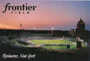 Playing Soccer at Frontier Field, Rochester, New York - Kodak Tower to Right