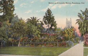 California Pasadena Scene On Colorado Street Curteich