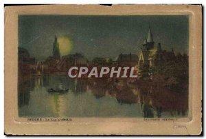 Old Postcard Bruges Love Lake