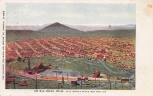 Cripple Creek, Colorado., Very Early Postcard, Undivided Back, Used