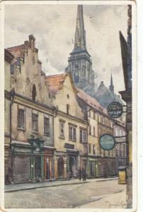 Czech Republic Pilsen Plzen Riegrova street artist postcard