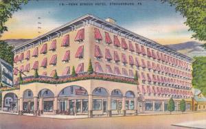 STROUDSBURG, Pennsylvania, PU-1951; Penn Stroud Hotel