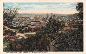 Mineral Wells Texas View from Mountain Scenic View Antique Postcard J52616