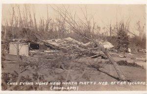RP:  NORTH PLATTE, Nebraska , 1920s : #2 ; Tornado Damage, Chas. Evans Ranch