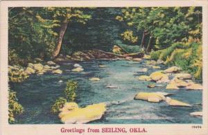 Oklahoma Greetings From Seiling 1959