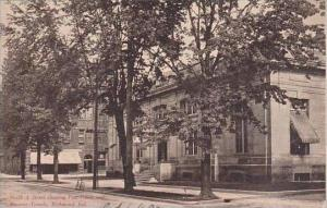 Indiana Richmond North A Street Showing Post Office And Masonic Temple 1907