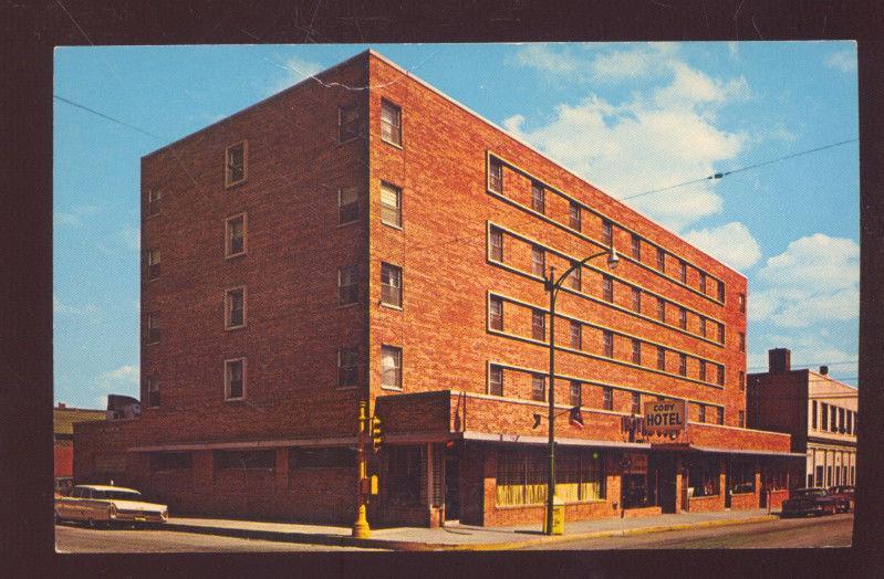 Leavenworth Kansas Hotel Cody Downtown Street Scene Advertising Postcard