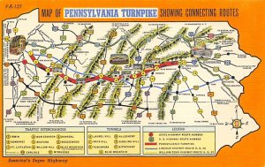Maps Pennsylvania Turnpike USA Unused