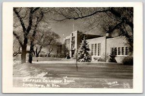 Jamestown North Dakota~Snow Blanket @ Crippled Children's Home RPPC 1940s