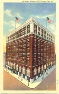 Linen of Hotel Muehlebach Kansas City Missouri MO