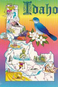 Idaho The Gem State With Map 1996