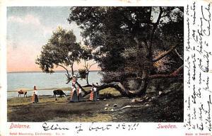 Sweden Old Vintage Antique Post Card Dalarne 1900