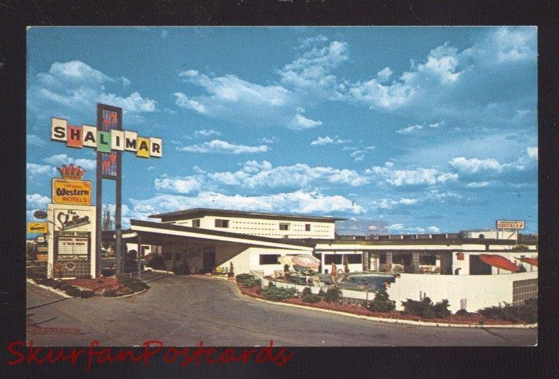 GALLUP NEW MEXICO ROUTE 66 SHALIMAR INN MOTEL VINTAGE ADVERTISING POSTCARD NM