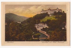 Karlsbad, Gasbad mit Hotel Imperial