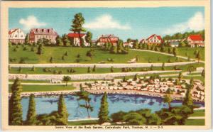 TRENTON, NJ New Jersey   View of ROCK GARDEN Cadwalader Park  c1940s    Postcard