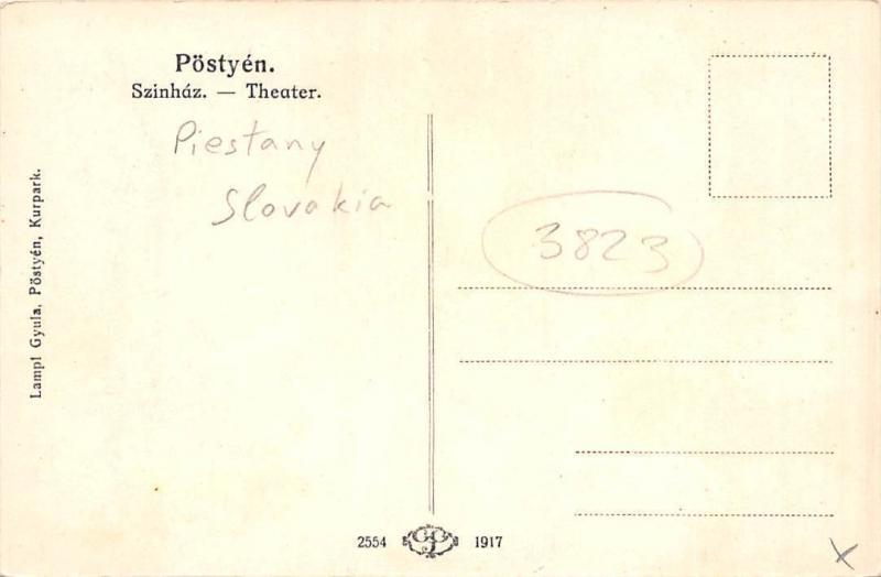 Slovakia Postyen, Szinhaz, Theater, Piestany