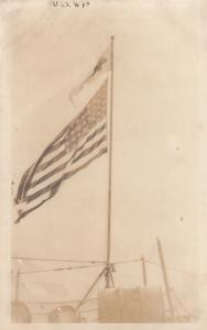 RP, USA Flag, U.S.S. Wyoming, 1900-10s