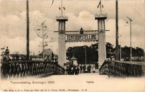 CPA Tentoonstelling GRONINGEN 1903 Ingang NETHERLANDS (604093)