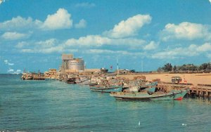 Fishing Fleet NAHA Okinawa, Japan Port, Boats 1965 Vintage Postcard