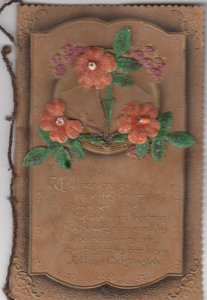 Bi-Fold CHRISTMAS CARD with attached Flowers, 00-10s