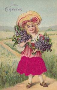 Child , Hearty Congratulations , 1911 ; Silk Dress