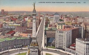 Looking North From Monument Indianapolis Indiana