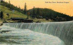 Rogue River Oregon~Brothers CR~Frank Ray's Gold Ray Dam~Shacks~Torn Down~1908 PC
