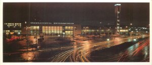 Postcard Latvia Riga central railway station