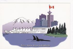 Stanley Park, Wild Orcas, VANCOUVER, British Columbia, Canada, 40-60´s