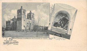 G82/ San Antonio Texas Postcard 1903 Greetings 2View Interior Purissima Acuna