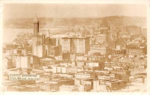 Seattle Washington From Marine Hospital Panorama 1939