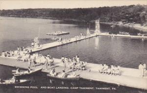 Swimming Pool and Boat Landing Camp Tamiment Tamiment Pennsylvania Artvue