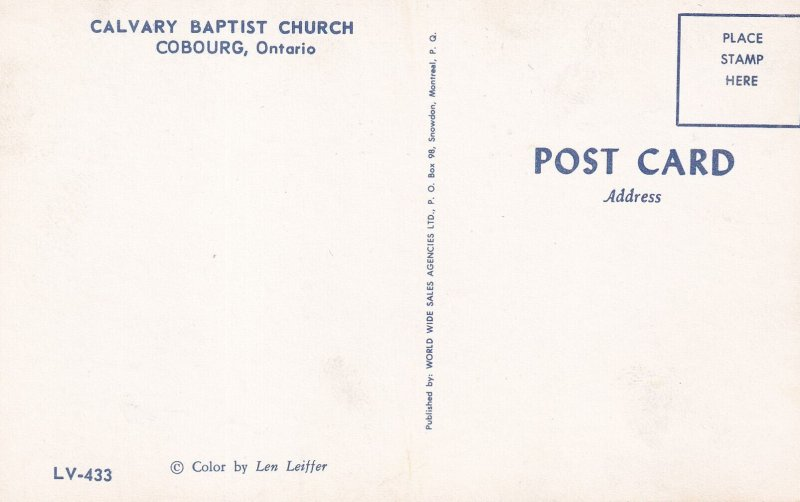 COBOURG, Ontario, Canada, 1940-1960s; Calvary Baptist Church