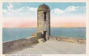 Florida St Augustine Watch Tower Fort Marion Curteich