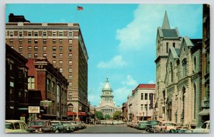 Springfield IL~Capitol Avenue~Sara Lee Beauty Shoppe~Cleaners~Rexall~1950s Cars
