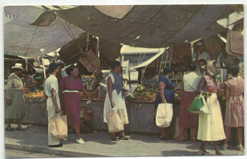 curacao, N.A., WILLEMSTAD, Floating Market (1964) Stamp