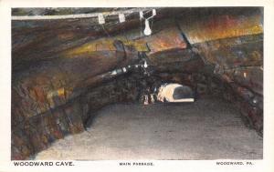 WOODWARD PENNSYLVANIA WOODWARD CAVE~LOT 4 POSTCARDS 1920s PASSAGE~STATUES~BABEL