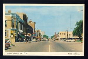 York, Nebraska/NE Postcard, Lincoln Avenue, US 81, Downtown, 1950's Cars