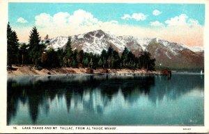 California Lake Tahoe and Mount Tallac