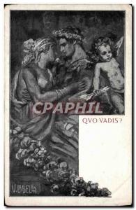 Postcard Old Quo Vadis
