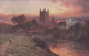 AS: The Wye, Cathedral, Hereford, England, United Kingdom, Sutton Palmer, 0...