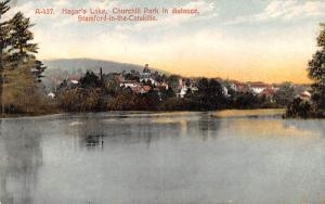 Hager's Lake Stamford, New York Postcard