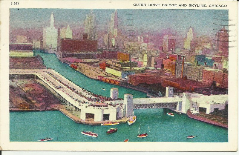 Chicago, Outer Drive Bridge And Skyline