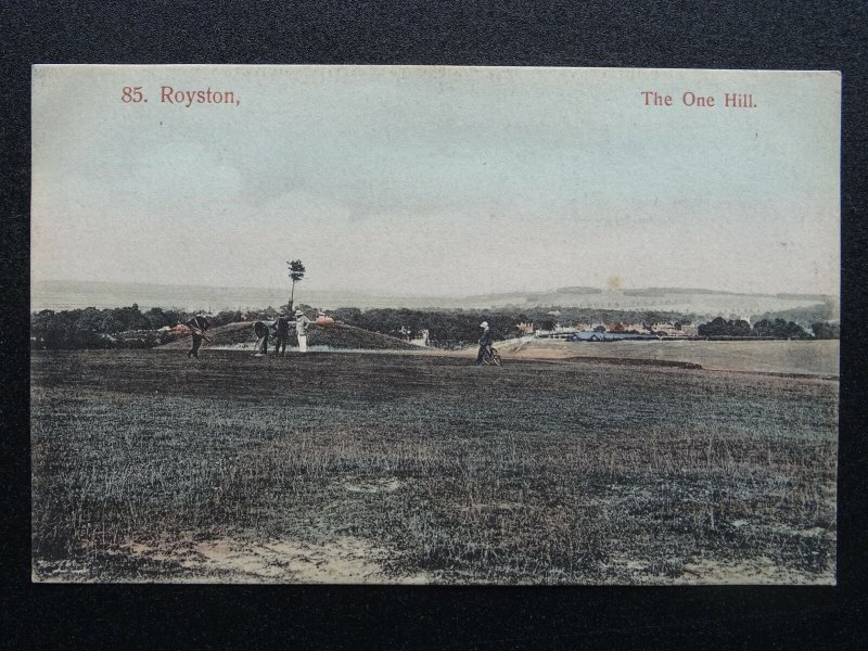 Hertfordshire ROYSTON The One Hill GOLF COURSE c1907 Postcard by Robert H. Clark