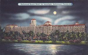 Florida Hollywood Beach Hotel By Moonlight