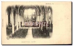 Old Postcard Bethune Church St Vaast La Nef
