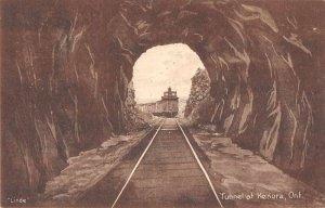 Kenora Ontario Canada Train Tunnel Vintage Postcard AA4131
