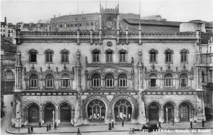 Portugal Lisboa estacao de Rossie Lisbon 1957 01.26