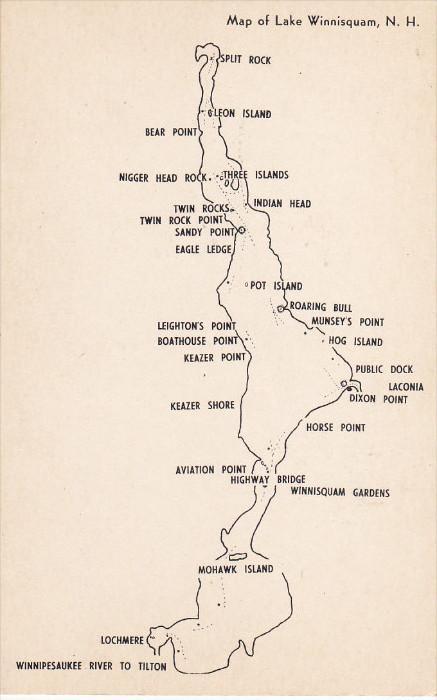 map of lake winnisquam nh New Hampshire 1900 1910 S Map Of Lake Winnisquam Hippostcard map of lake winnisquam nh